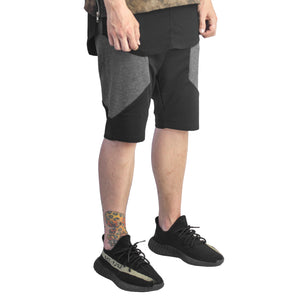 Side Panel Shorts : Black/Charcoal Heather