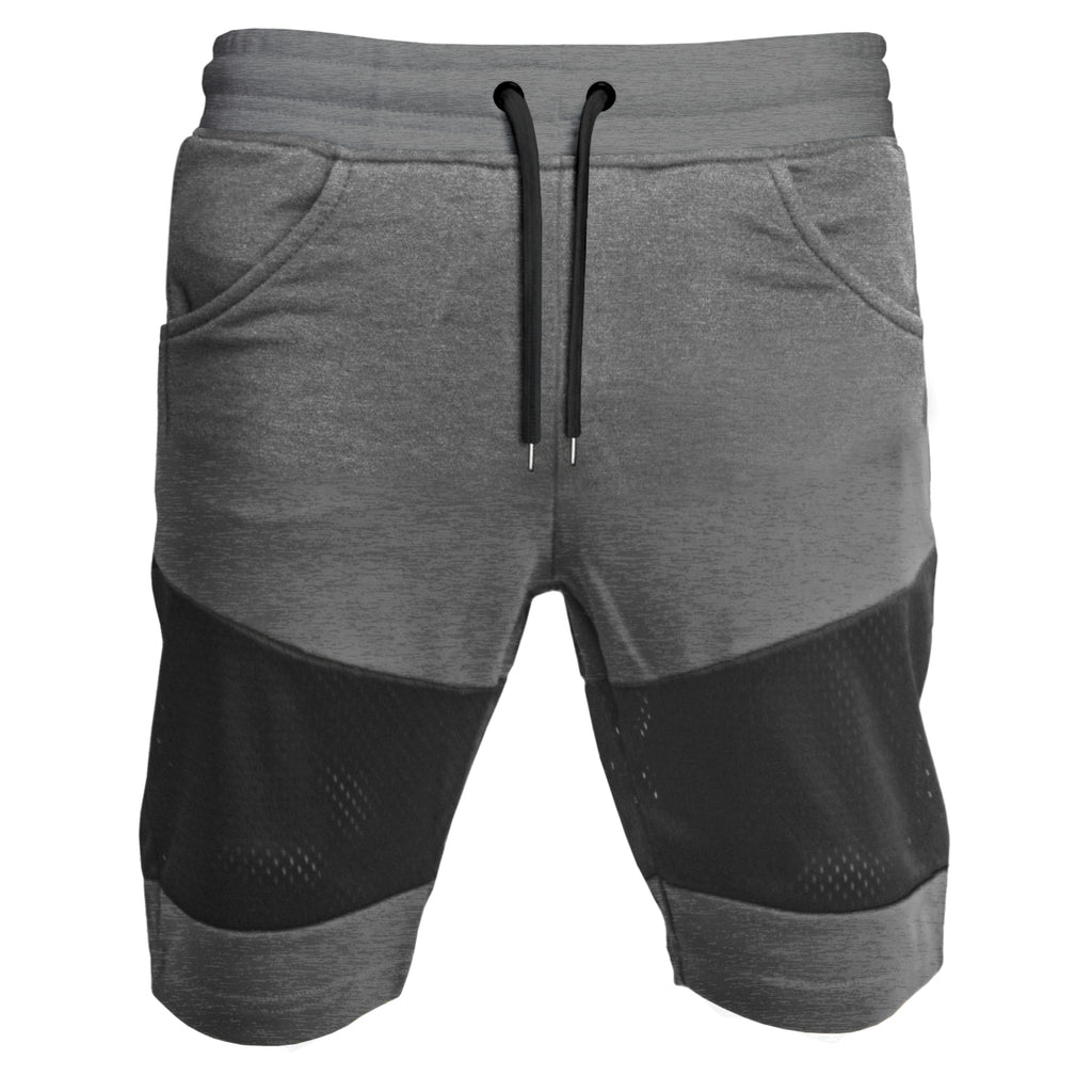 Panel Mesh Shorts : Charcoal Heather