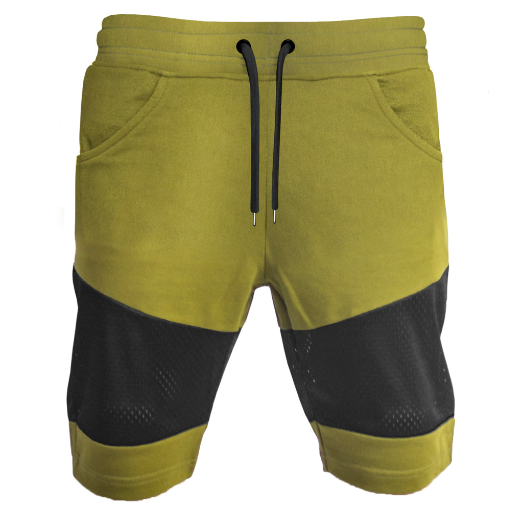Panel Mesh Shorts : Burnt Olive
