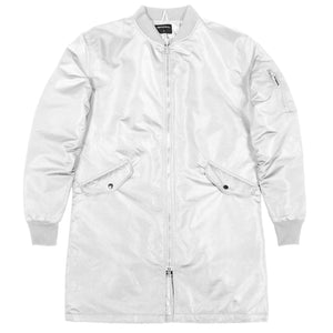 Reversible Bomber Coat : White