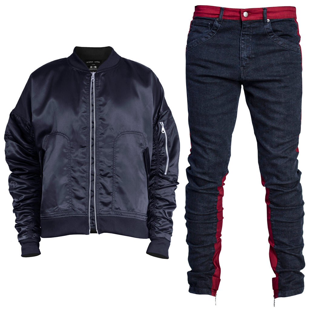 Bomber Spear Fit : Navy