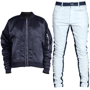 Bomber Track Fit : Navy