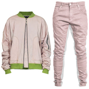 Bomber Track Fit : Pink