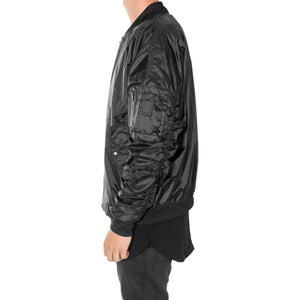 Escape Bomber Jacket : Black/Black Zip
