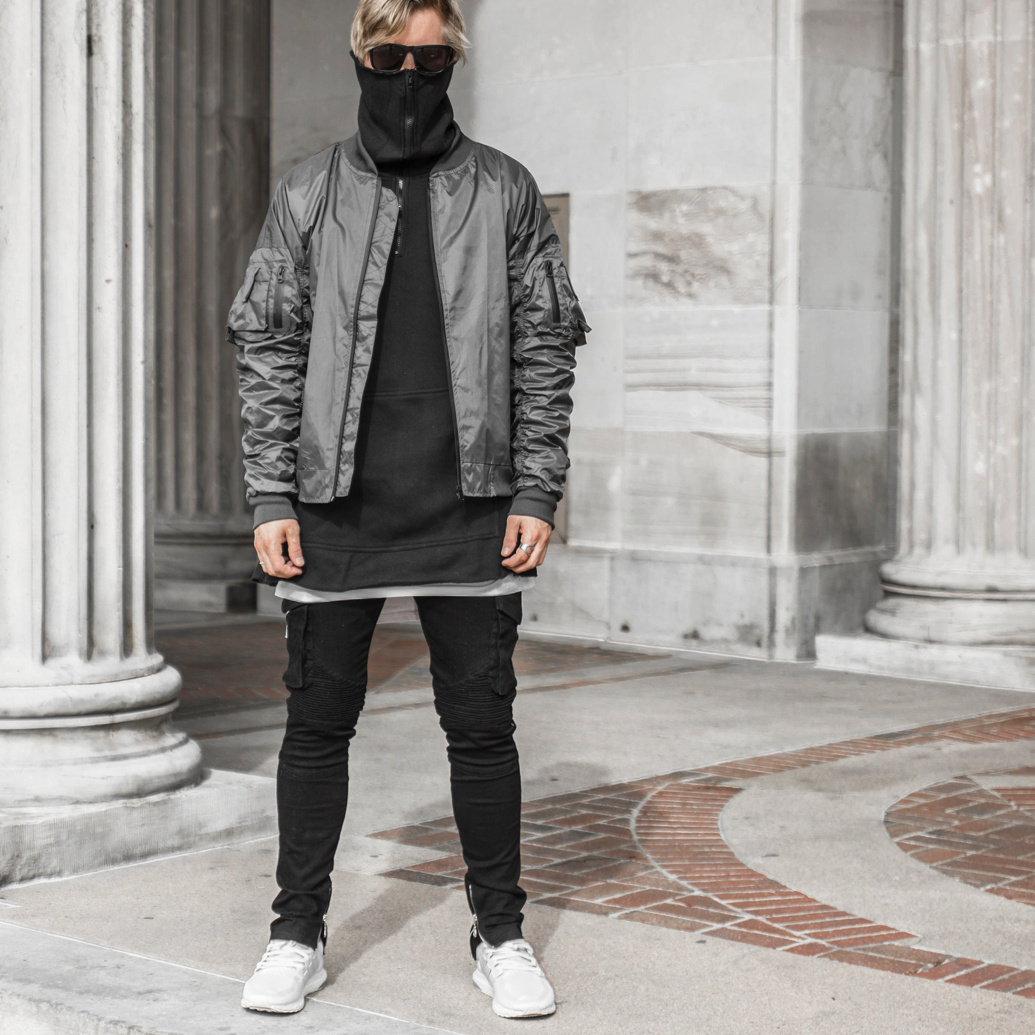 Escape Bomber Jacket : Charcoal