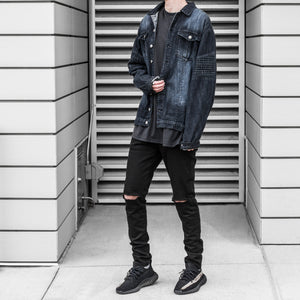 Denim Biker Jacket 2.0 : Cool Black Wash