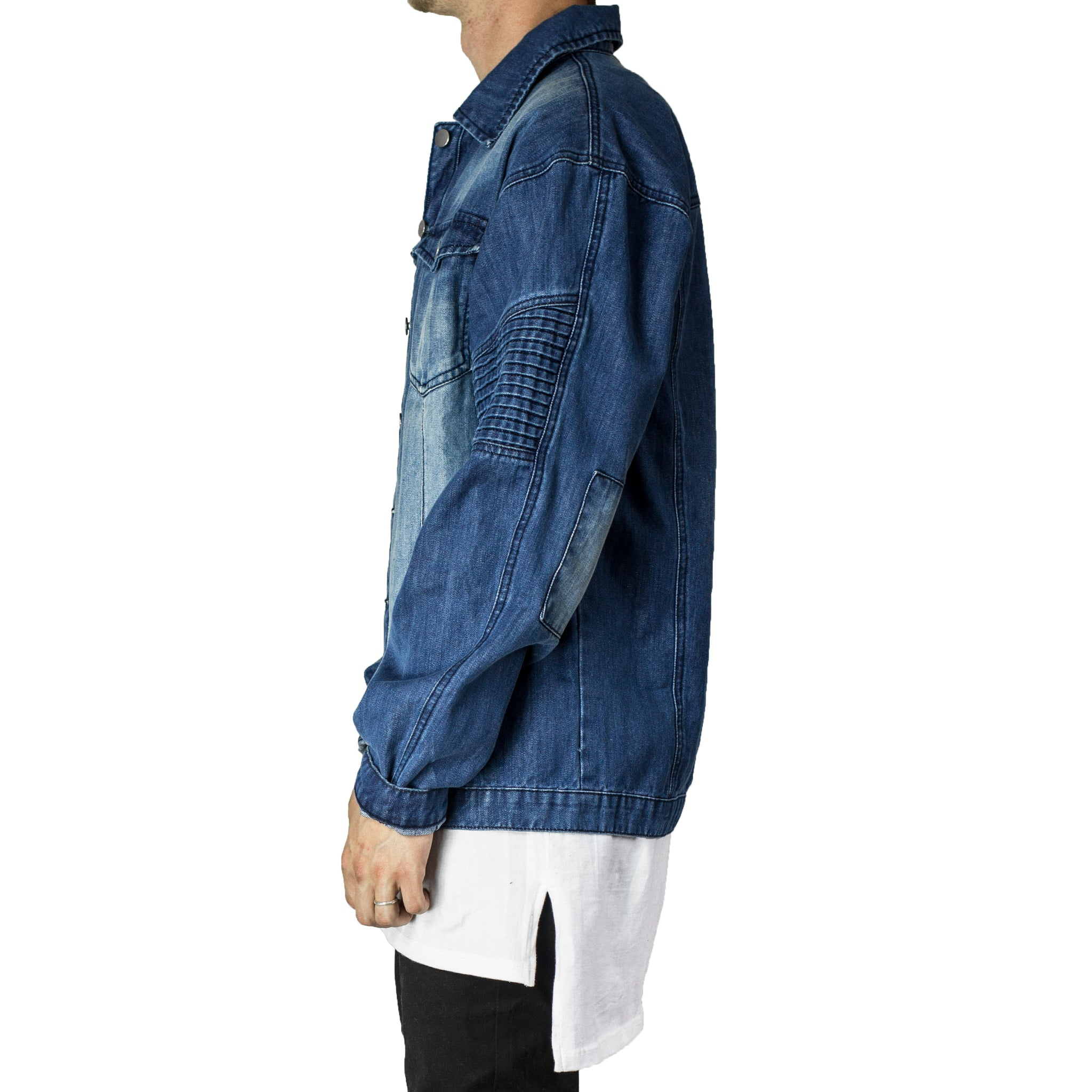 Denim Biker Jacket 2.0 : Blue Wash