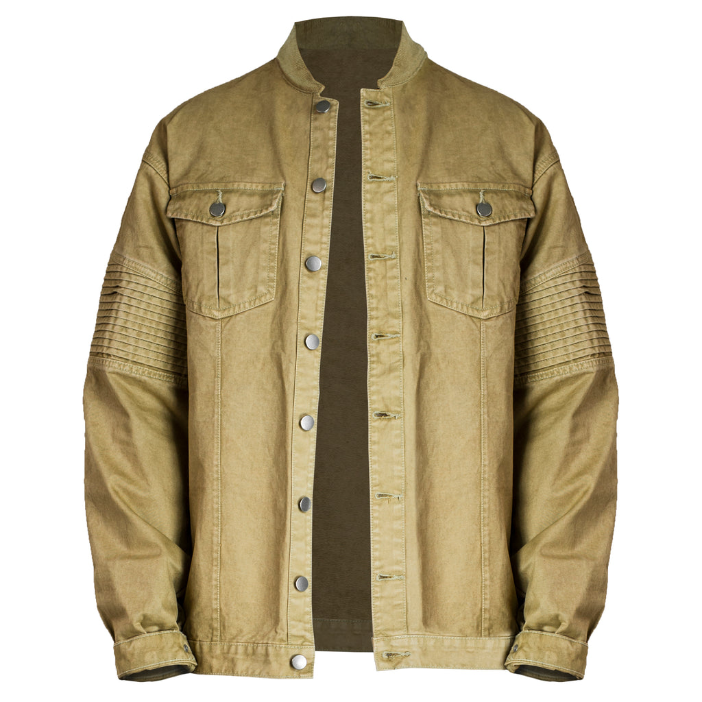 Denim Biker Jacket 2.0 : Tan