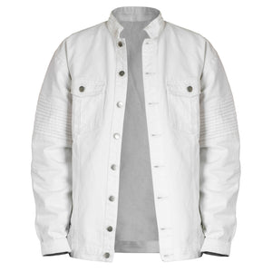 Denim Biker Jacket 2.0 : White