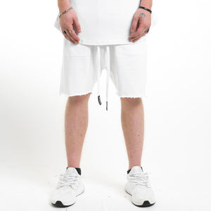 Dropcrotch Shorts : White