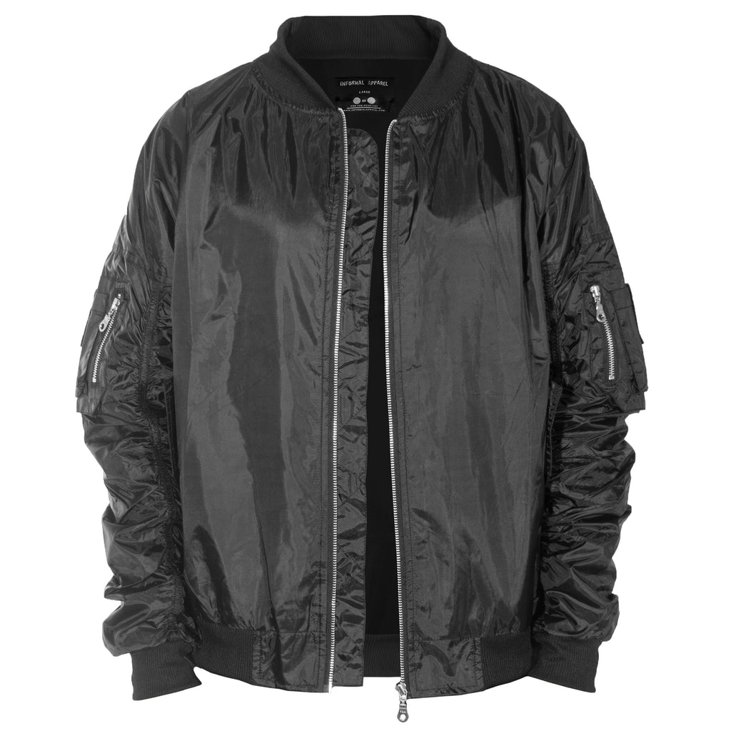 Escape Bomber Jacket : Black/Silver Zip