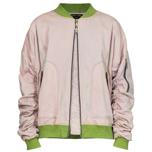 IA-1 Bomber Jacket : Pink Denim