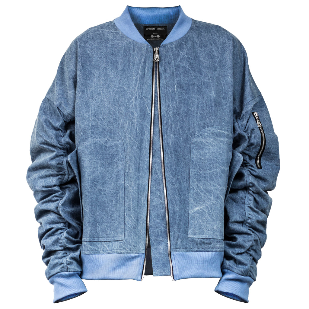 IA-1 Bomber Jacket : Light Blue Denim