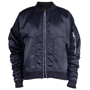 IA-1 Bomber Jacket : Navy Satin