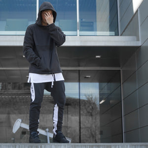 YNM Sweatsuit : Charcoal/White