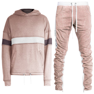 Inversion Sweatsuit : Pink/White