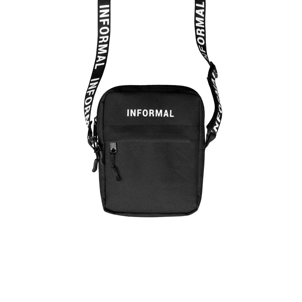 Logo Shoulder Pack : Black/White