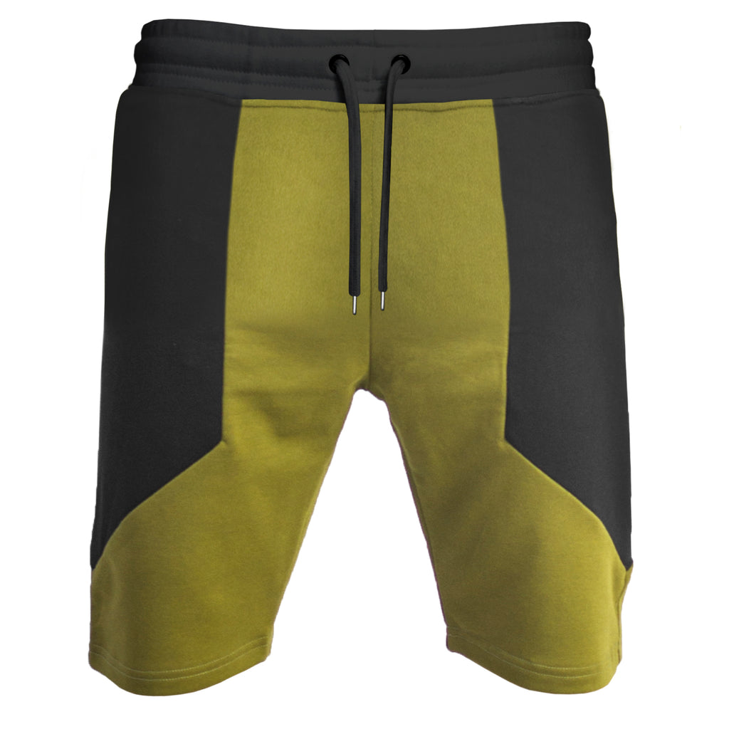 Side Panel Shorts : Burnt Olive/Black