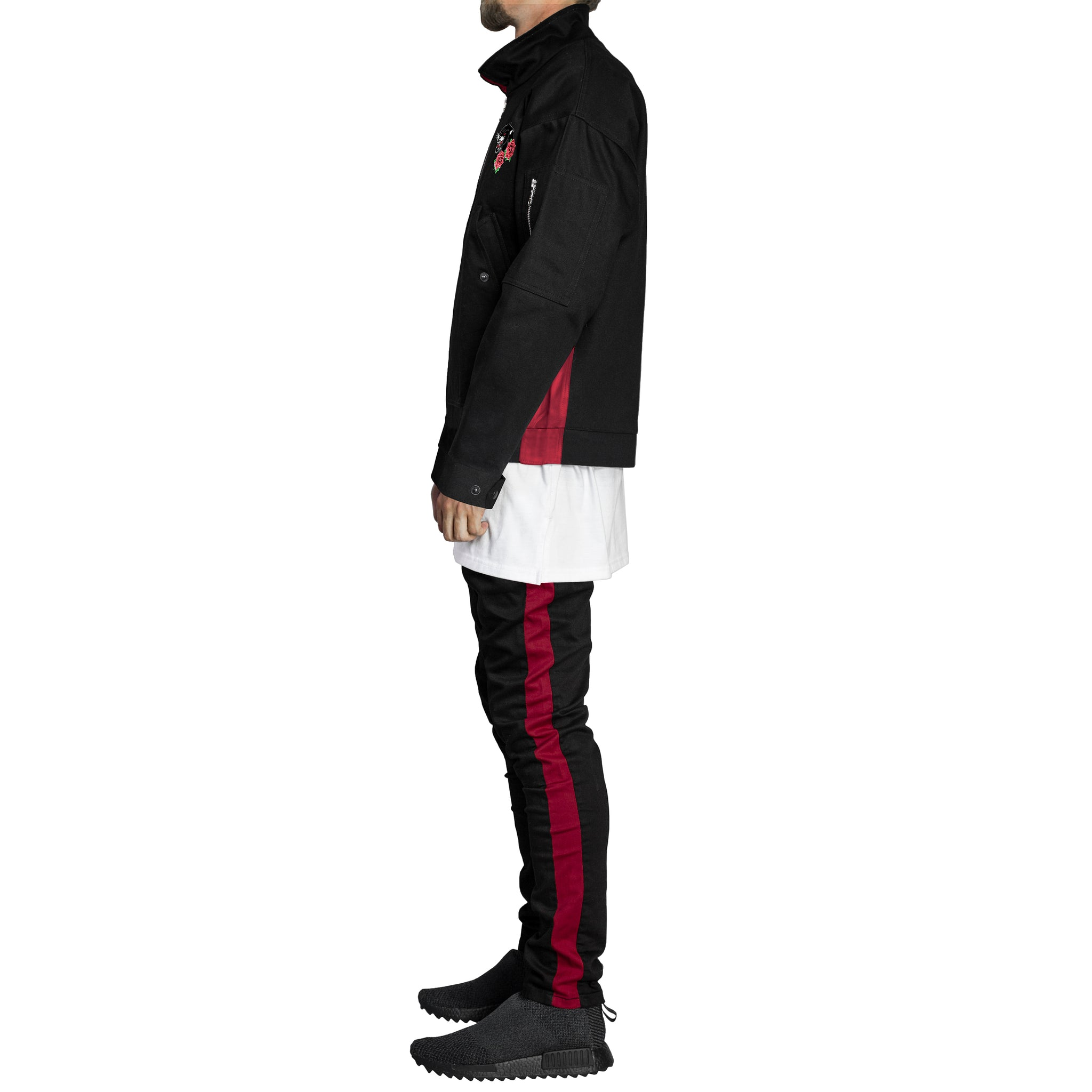 Panther Denim Fit : Black/Red
