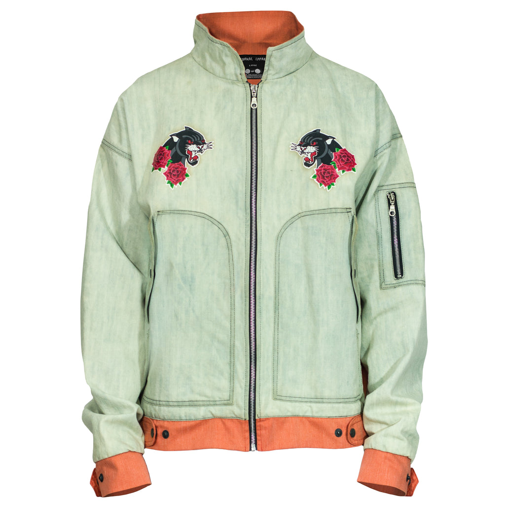 Panther Pilot Jacket 2.0 : Bleach Blue/Coral