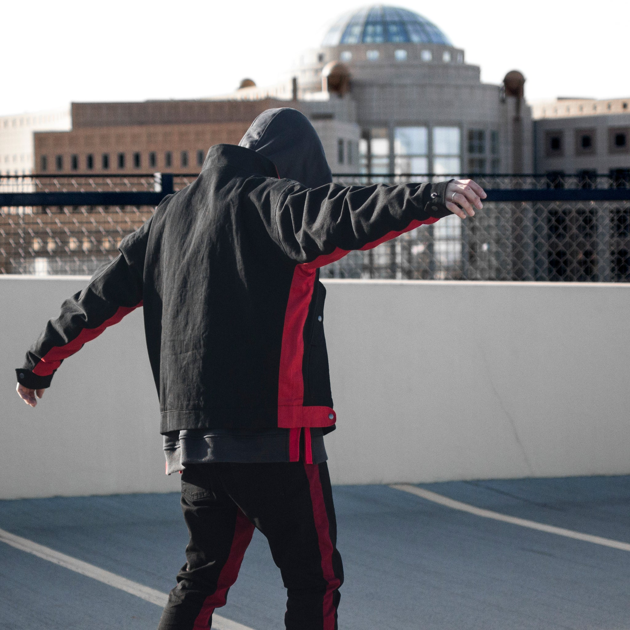 Panther Pilot Jacket 2.0 : Black/Red