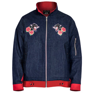 Panther Pilot Jacket 2.0 : Indigo/Red