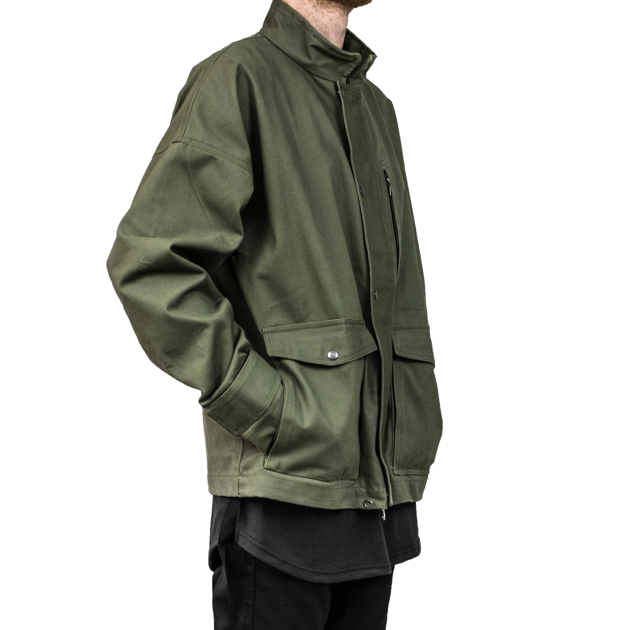 I-65 Pilot Jacket : Olive Duck Canvas
