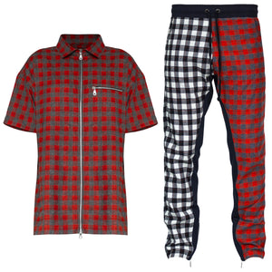 Plaid Outfit : Red/Grey/Split