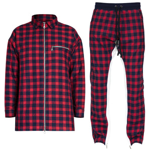 Plaid Outfit : Red/Navy