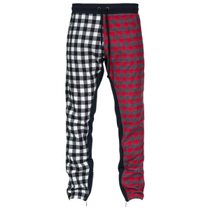 Plaid Zip Pants : Split