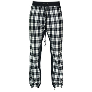 Plaid Zip Pants : White/Black