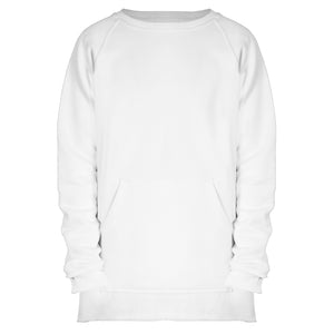 Raglan Fleece Sweatshirt : White