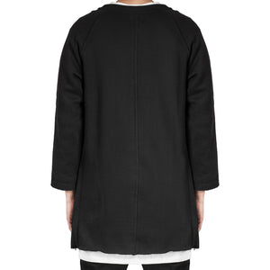 Raglan Fleece Crewneck: Black