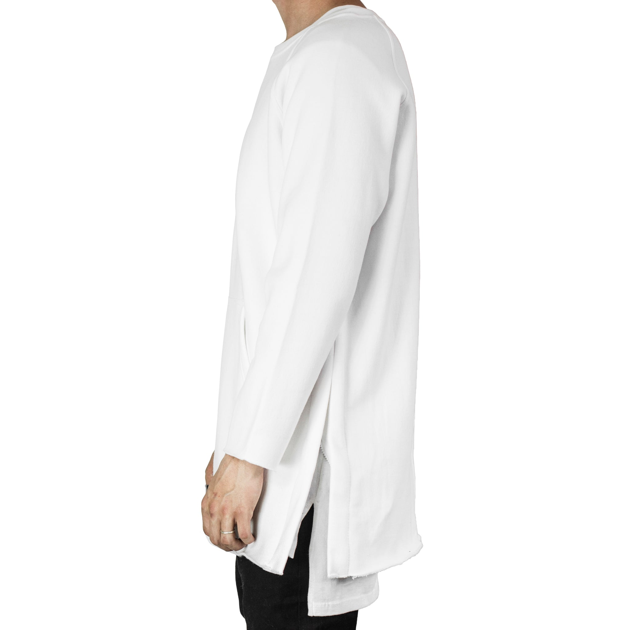 Raglan Fleece Crewneck : White