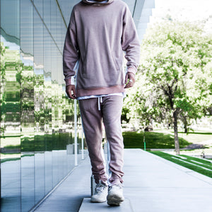 Seam Panel Hoody : Pink/White