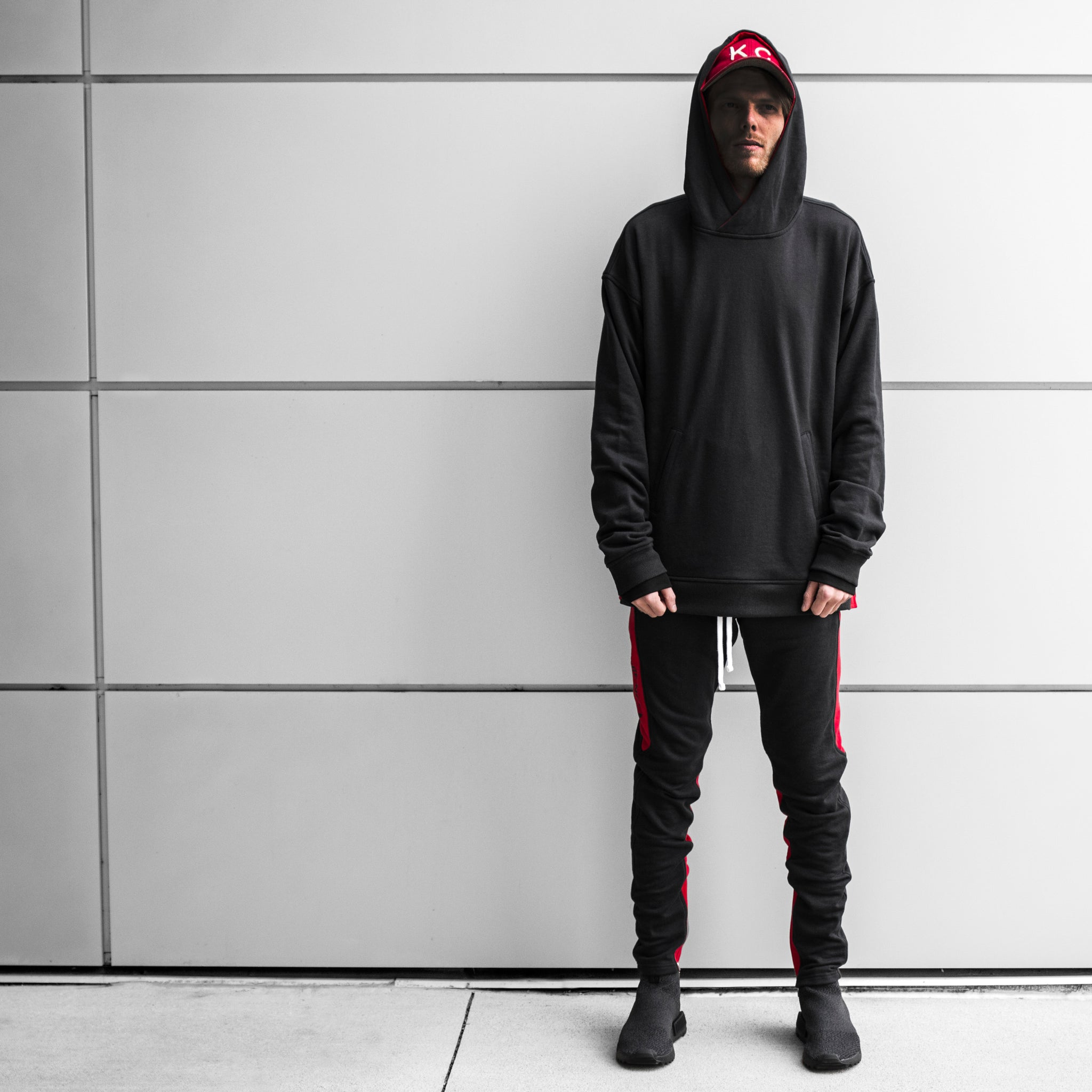 Seam Panel Hoody : Bred
