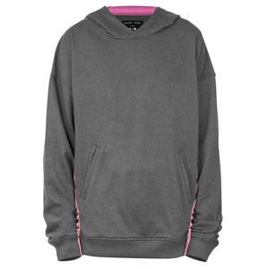 Seam Panel Hoody : Charcoal/Pink