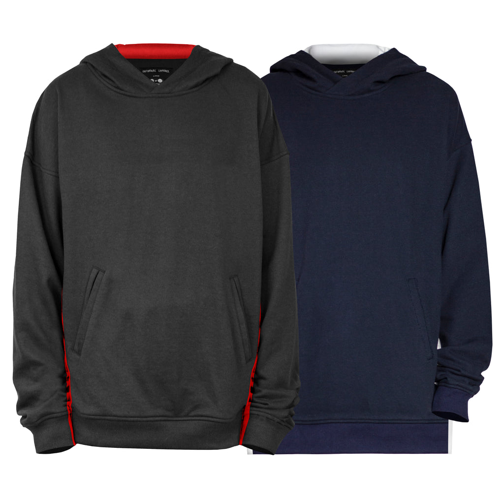 Seam Panel Hoodys : 2 Colorways