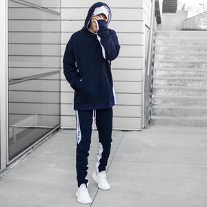 YNM Sweatsuit : Navy/White