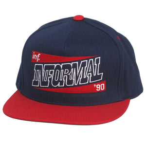 Slanted Snapback : Navy/Red