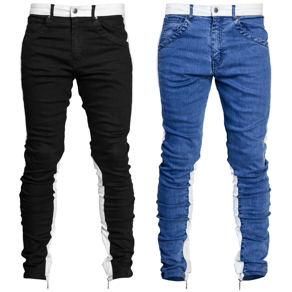 Spear Ankle Zip Jeans : 2 Colorways
