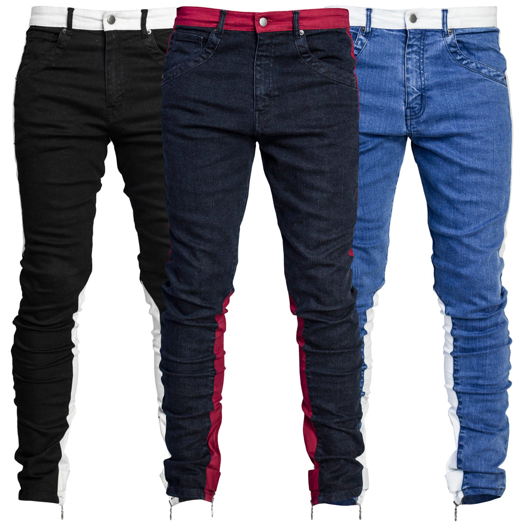 Spear Ankle Zip Jeans : 3 Colorways
