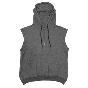Spinal Half-Zip Hoody : Charcoal Heather
