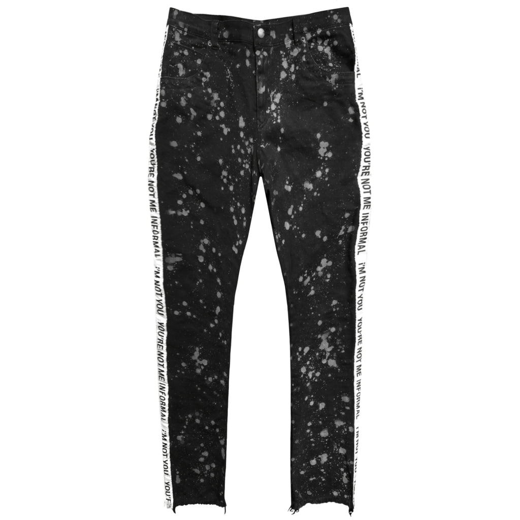 Splatter Taped Jeans : Black