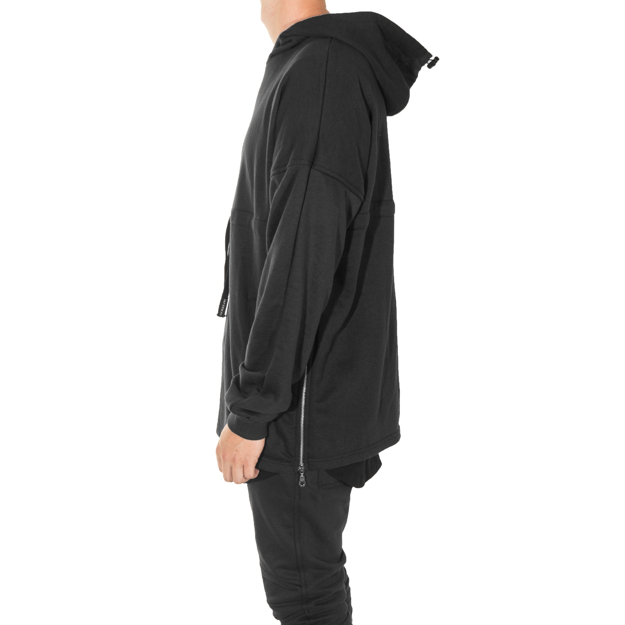 Split Hoody : Black