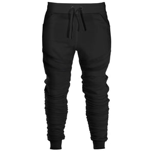 Strapped Ruche Joggers : Black