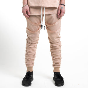 Strapped Gathered Joggers : Sand