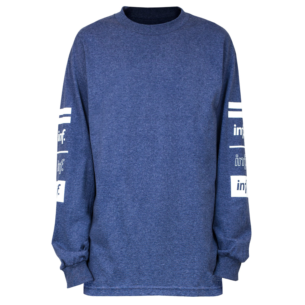 Team 90 L/S Tee : Heather Denim