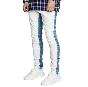Track Jeans : White/Blue