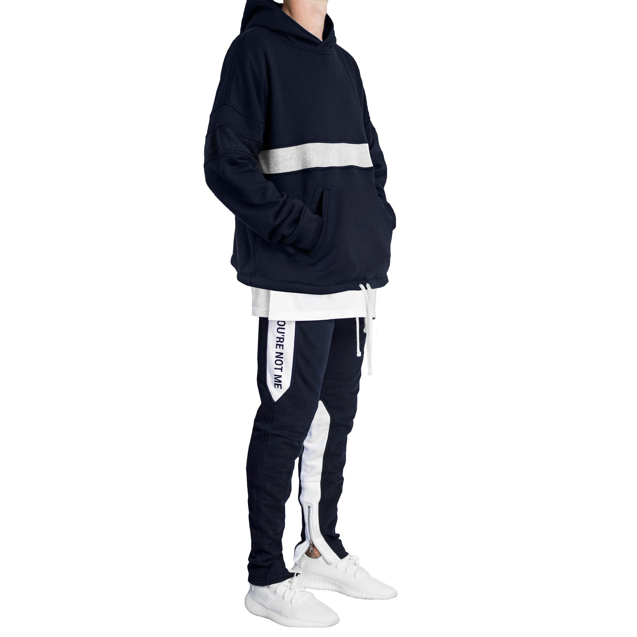 Inversion Sweatsuit : Navy/White